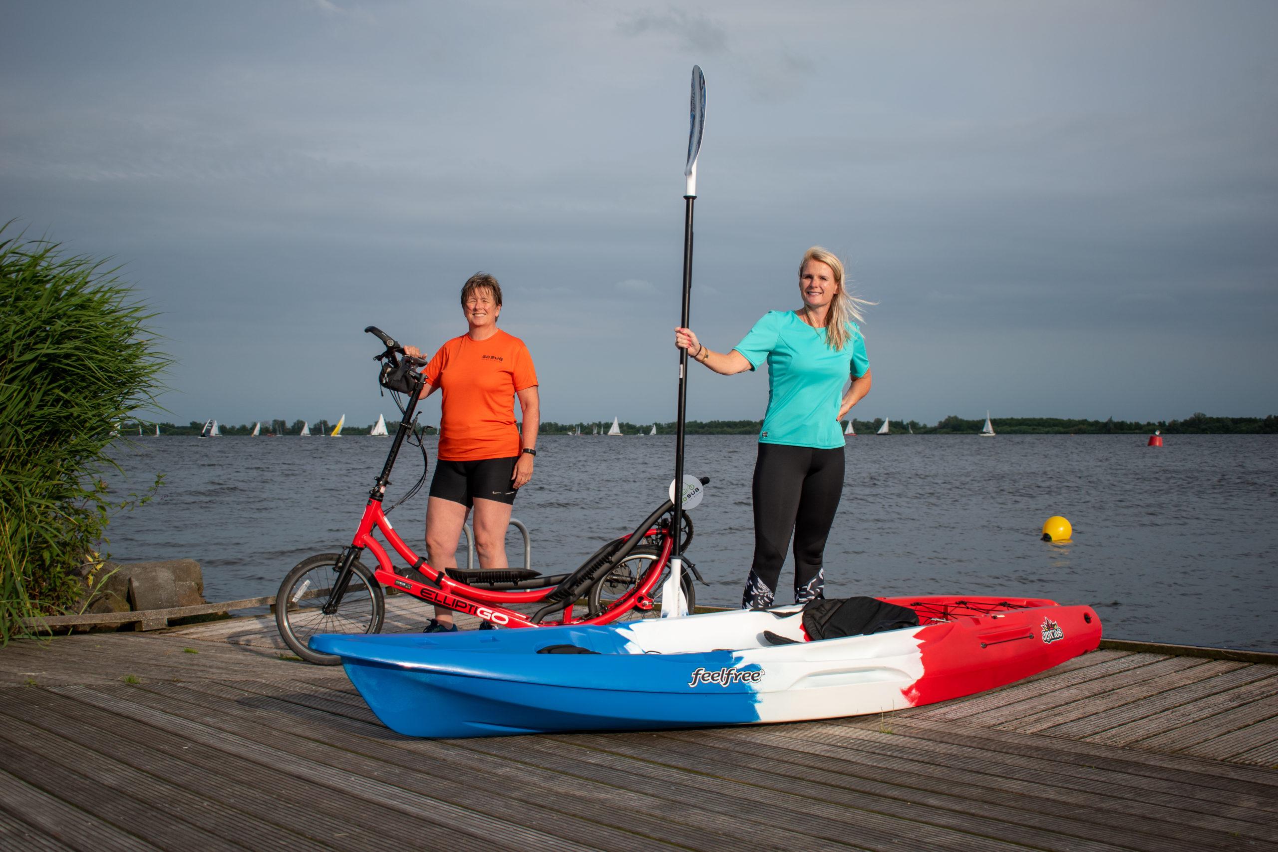 Elliptigo en Kayak bij Supbraassemermeer